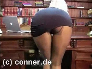 Adele Stephens Pantyhose in the Office