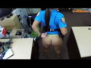 Big ass officer gets anal banged by pawn guy