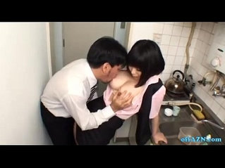 Busty slut Office Lady Giving Blowjob On Her Knees Cum To Mouth Spitting Semen To The