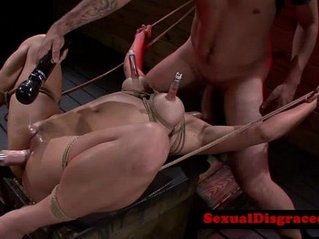 Busty asian fetish skank treated roughly