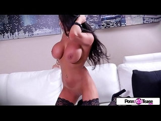 Pornstar Tease August Taylor show you her big boobs and big booty