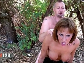 Hot spanish babe Mar Duran hard anal fucking and squirting in the woods