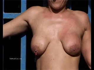 Outdoor whipping of blonde wife hardcore public bdsm and milf humiliation