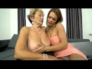 Granny Malya and her much younger friends pussy