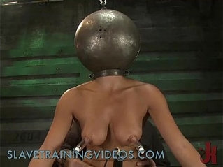 Busty babe has been punished and pussy fucked by dildo
