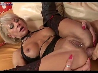 A kinky milf gets doggystyle fucked by a big dick