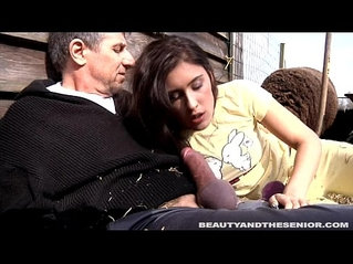Pierced teen cute girl gets hard fucked and facialized by an old dude
