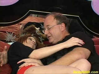 first experience his cute redhead daughte