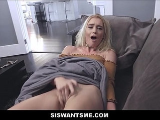 Cute Horny Blonde russian Teen Step Sister Anastasia Knight Wants Her Step Brother To Watch Her Masturbate To Orgasm POV