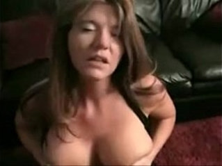 big tit milf sucks and fucks on the couch