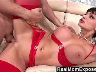 RealMomExposed Horny secretary loves cock up her ass