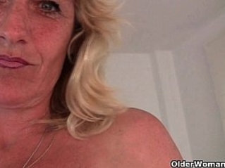 Granny gets her hard nipples pinched