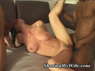 Hubby Shares Hot Wife cheating With monster Black Guys
