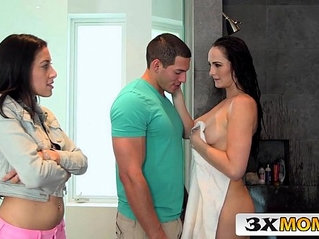 Bianca Breeze Threesome action with her Stepdaughter Kimberly Gates and Her Boyfriend